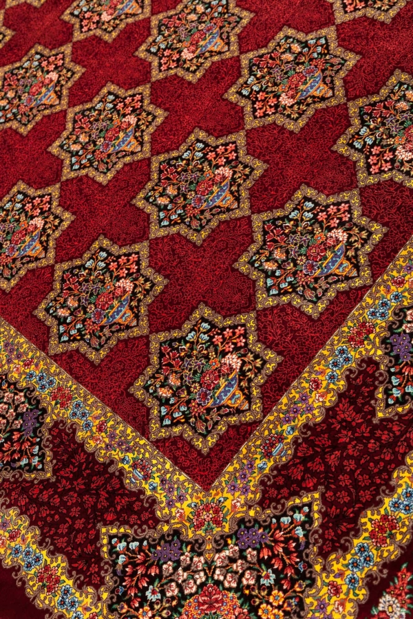 Extremely Fine Unique Signed  Persian Qum  Rug at Essie Carpets, Mayfair London