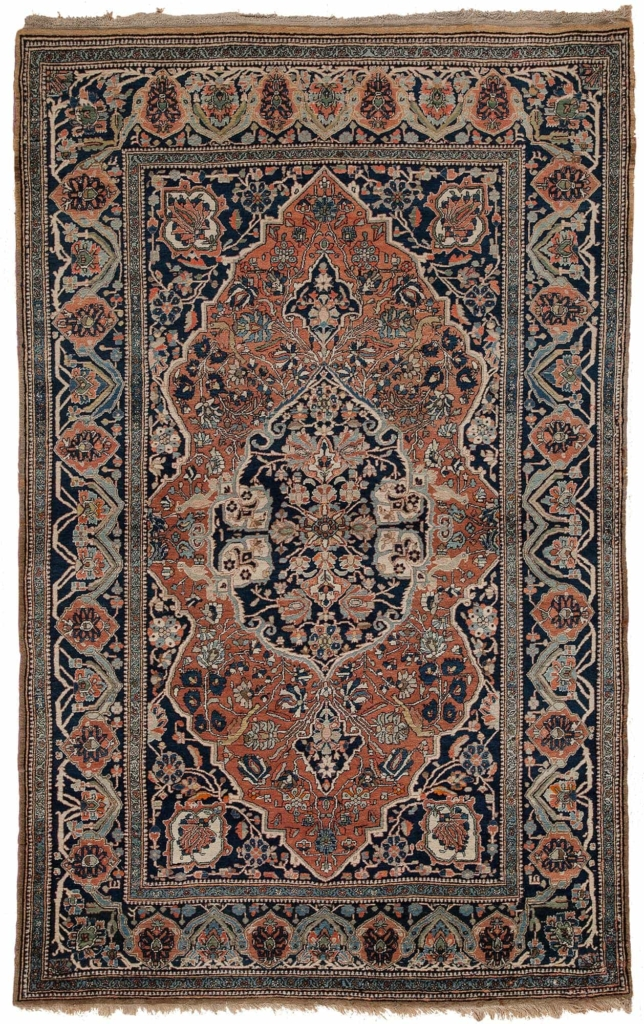 Antique Old Persian Kashan  Rug at Essie Carpets, Mayfair London