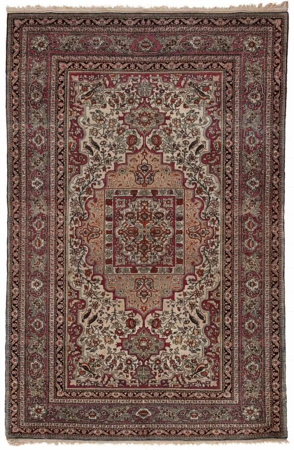 Old Persian Esfahan Rug at Essie Carpets, Mayfair London