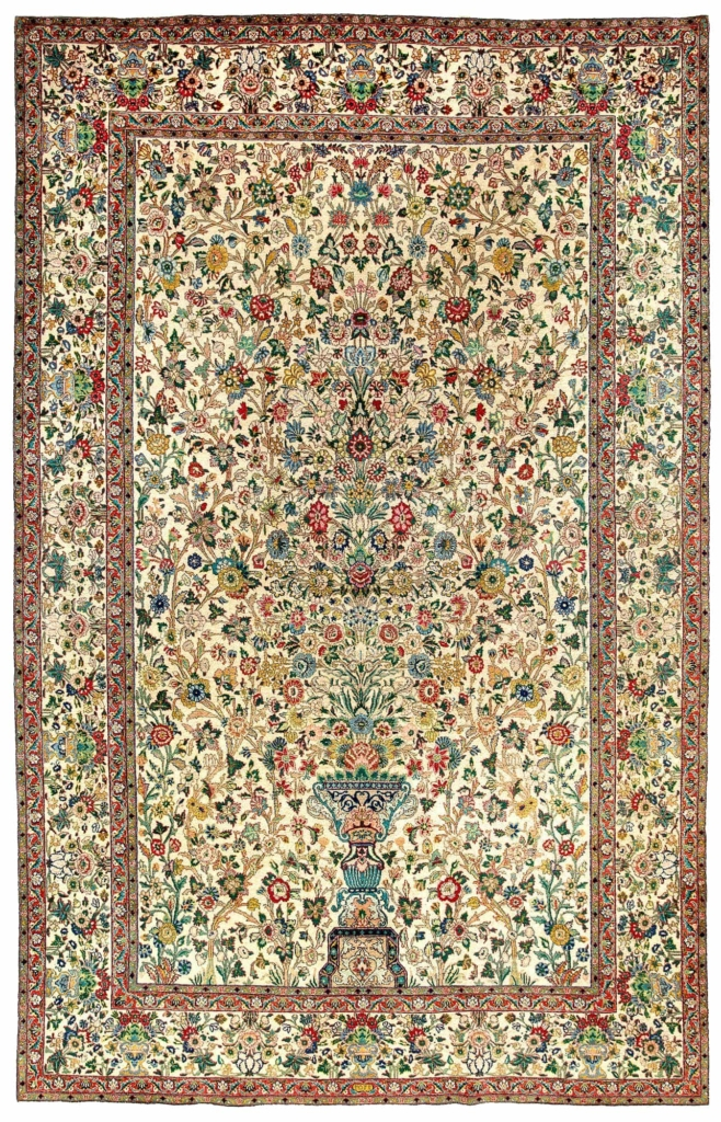 Very Decorative Persian Tabriz Rug at Essie Carpets, Mayfair London