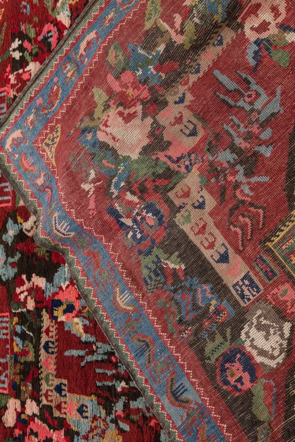 Dated and Signed Russian Gol Farangi Karabakh Rug at Essie Carpets, Mayfair London