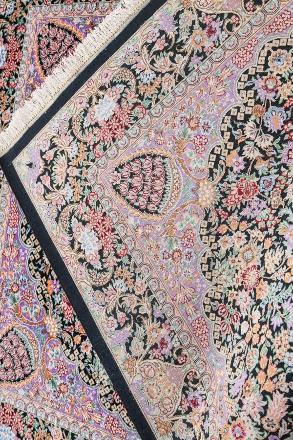Extremely Fine Persian Qum Rug at Essie Carpets, Mayfair London