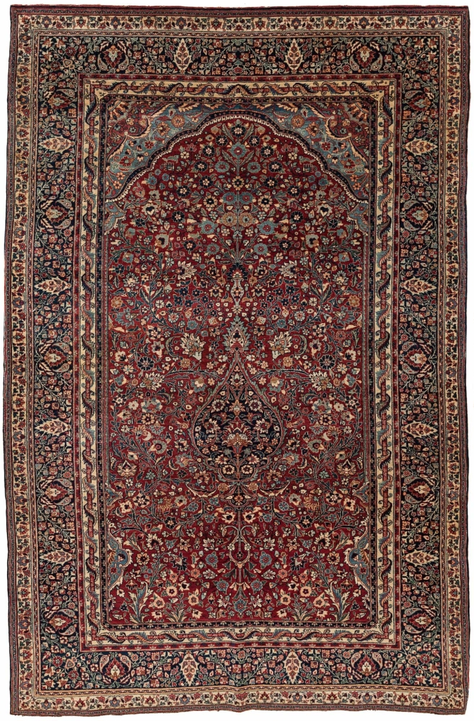 Antique Khorasan Kerman Rug at Essie Carpets, Mayfair London