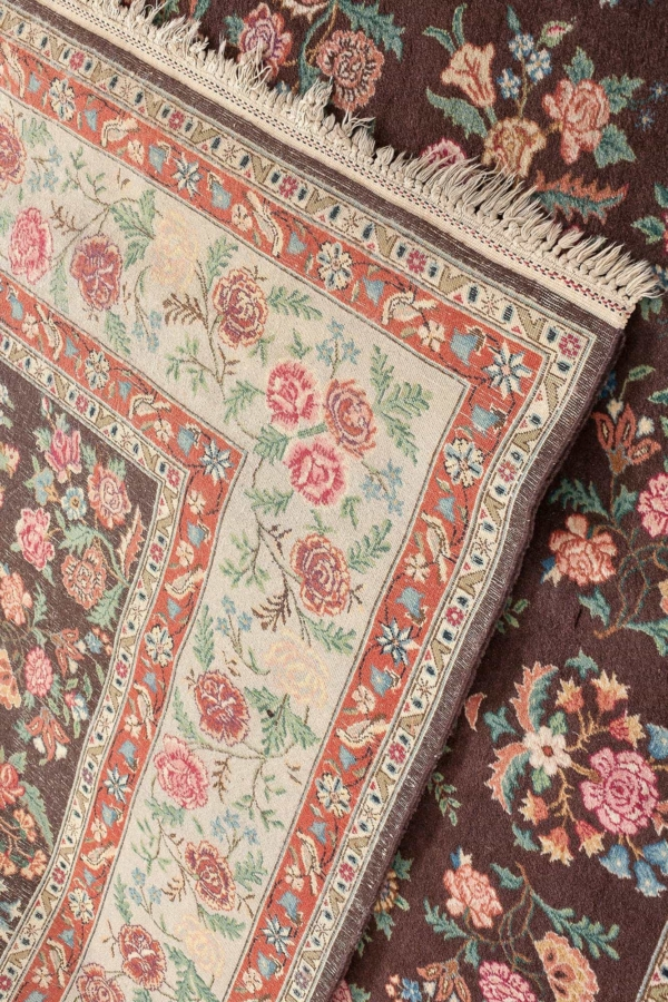 Old Persian Square Tabriz  Rug at Essie Carpets, Mayfair London