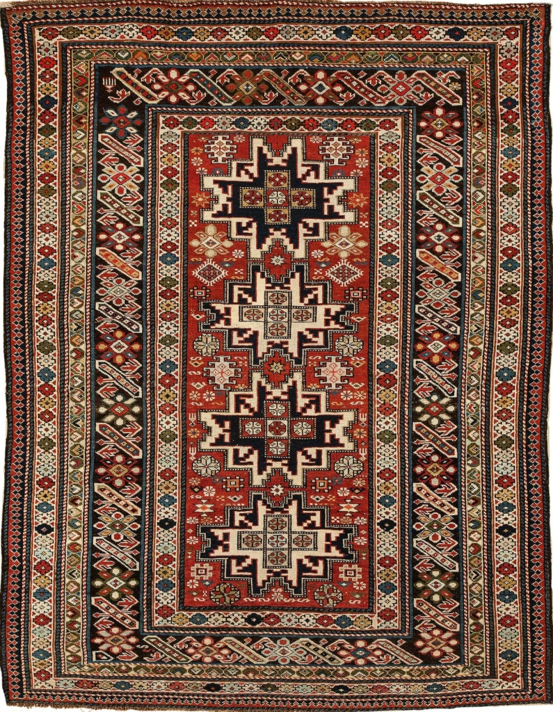 Antique Old Shirvan Rug at Essie Carpets, Mayfair London