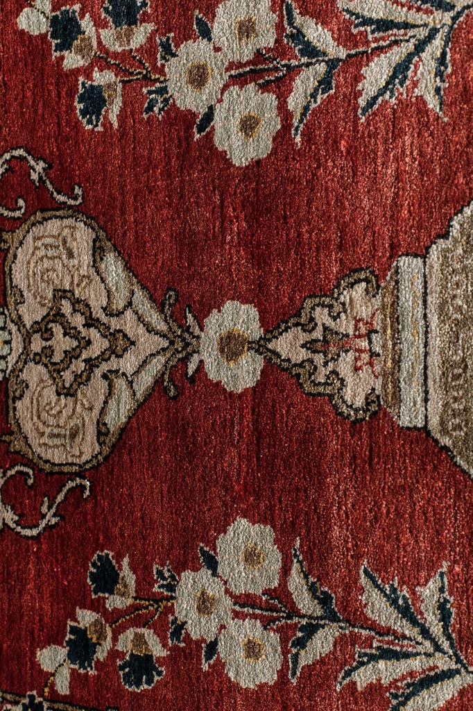 Old Fine Persian Qum Rug at Essie Carpets, Mayfair London