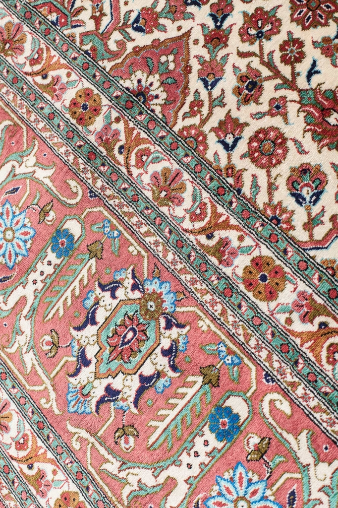 Very Fine Persian Qum Signed Rug at Essie Carpets, Mayfair London