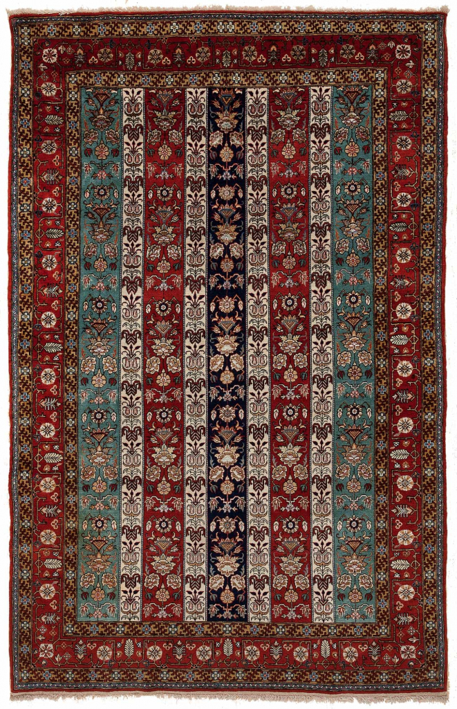 Old Persian Qum Rug at Essie Carpets, Mayfair London