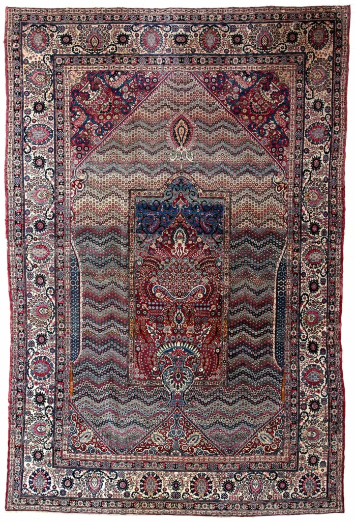 Unusual Old Persian Terhan Rug at Essie Carpets, Mayfair London