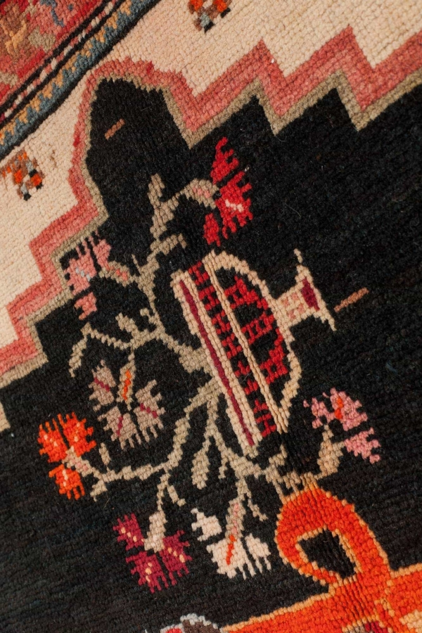 Signed and Dated Old Russian Karabakh Rug at Essie Carpets, Mayfair London