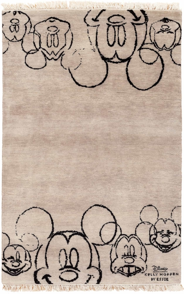 Mickey Characters on Both Edges Rug at Essie Carpets, Mayfair London