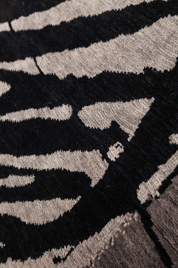 Mickey Ears in Black Graphite on Grey Field Rug at Essie Carpets, Mayfair London