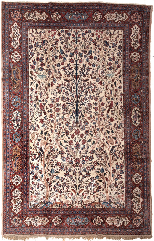 Fine Old Persian Kashan Carpet at Essie Carpets, Mayfair London