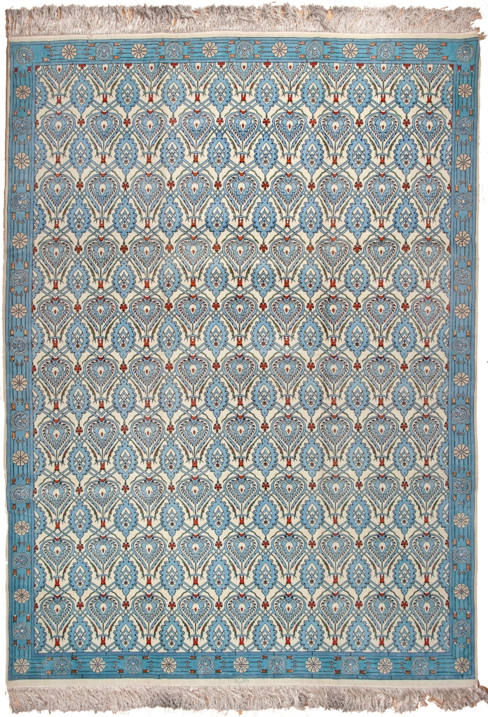 Exquisite Signed Persian Tabriz Carpet at Essie Carpets, Mayfair London
