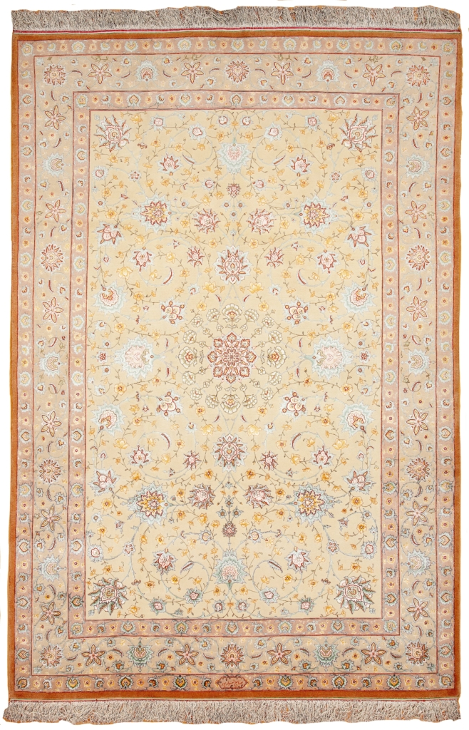Very Fine Tabriz with Central Medallion design Signed Shahsavarpour Rug at Essie Carpets, Mayfair London