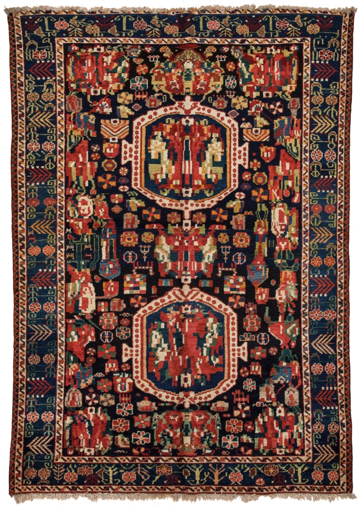 Old Bakhtiari Gol Farangi Rug at Essie Carpets, Mayfair London