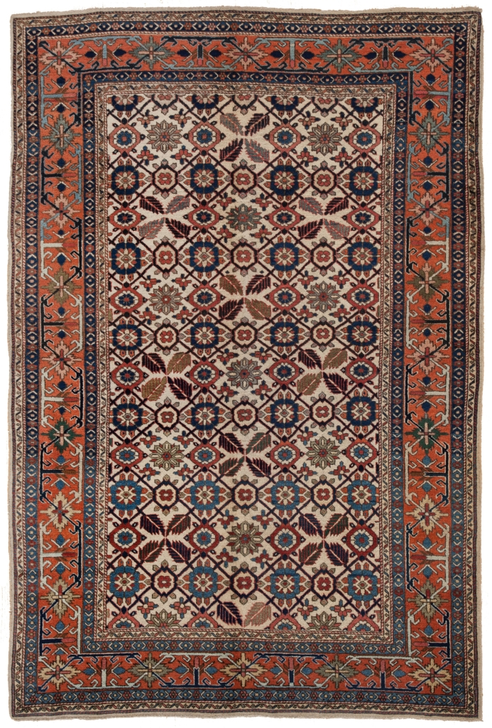 Old Russian Eirevan Rug at Essie Carpets, Mayfair London