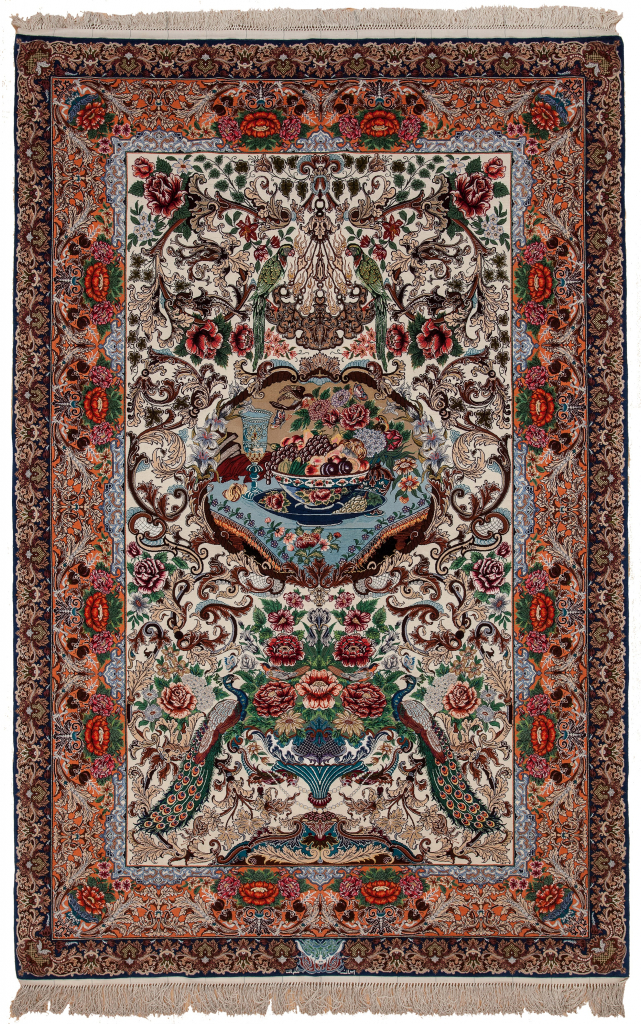 Extremely Fine Persian Esfahan Signed Rug at Essie Carpets, Mayfair London