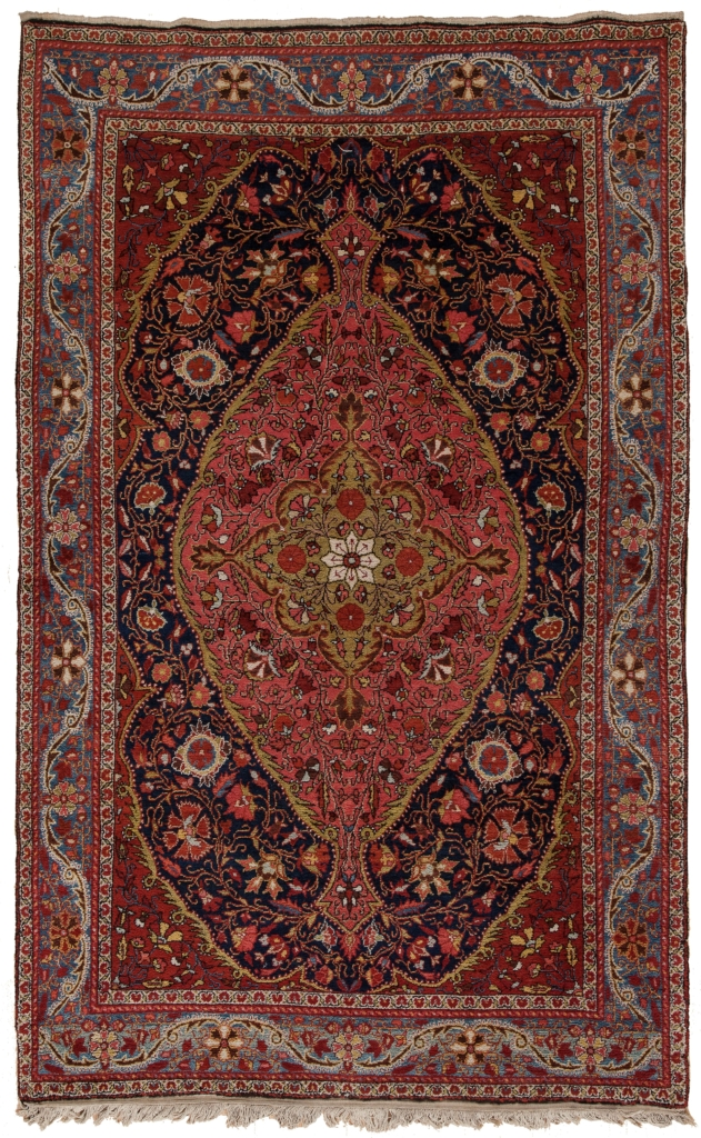 Very Old Fine Persian Saruk Rug at Essie Carpets, Mayfair London