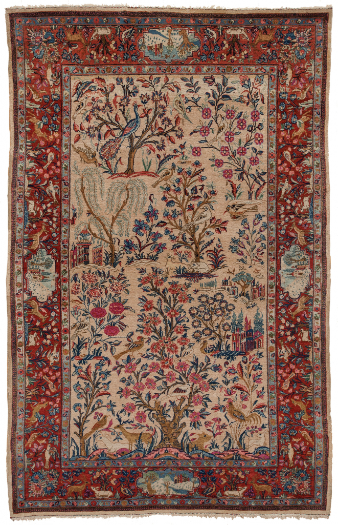 Magnificent Very Old Persian Kashan Rug at Essie Carpets, Mayfair London