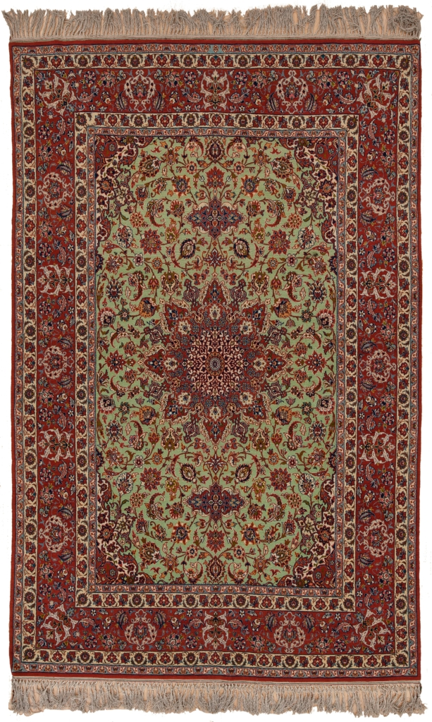 Old Fine Persian Esfahan  Rug at Essie Carpets, Mayfair London