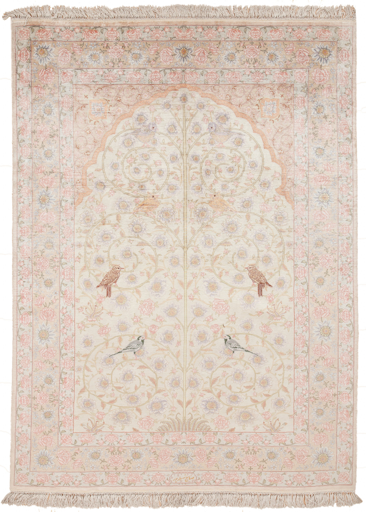 Fine Persian Tabriz Mihrab Tree of Life Essie Carpets Mayfair, London