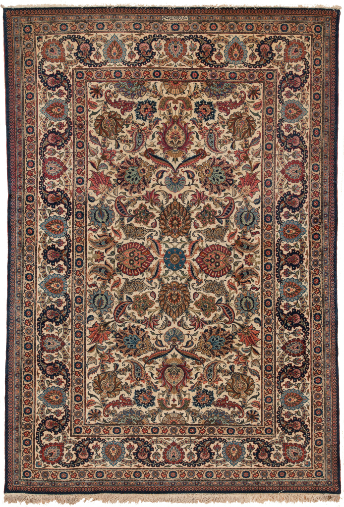 Signed Persian Kashan  Rug at Essie Carpets, Mayfair London