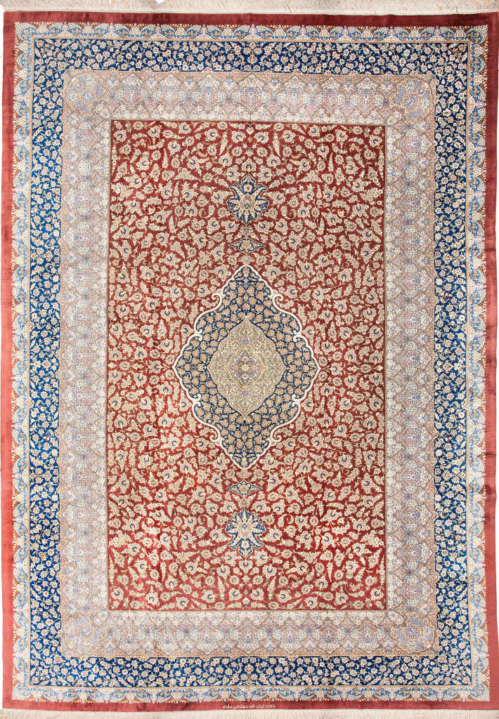 Very Fine Persian Qum Signed Carpet at Essie Carpets, Mayfair London