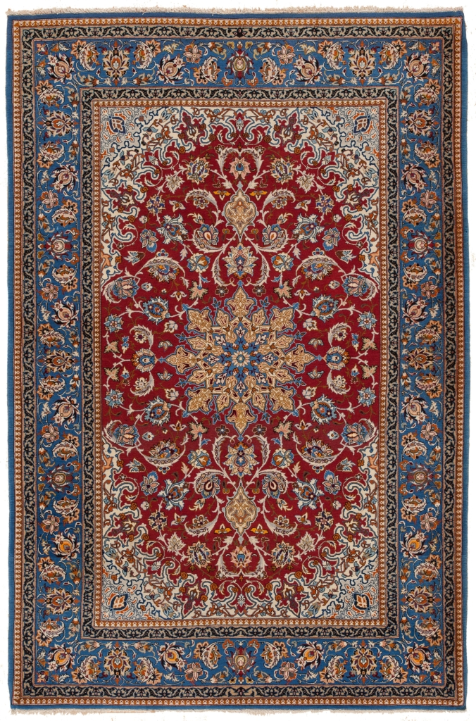 Fine Old Persian Esfahan Rug at Essie Carpets, Mayfair London