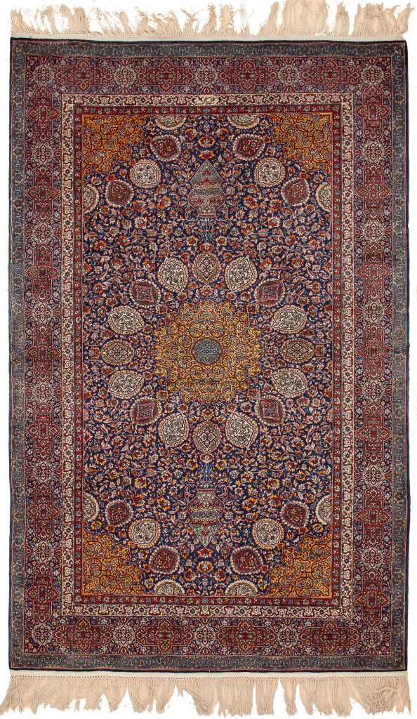 Signed Old Indian Lahore Rug at Essie Carpets, Mayfair London