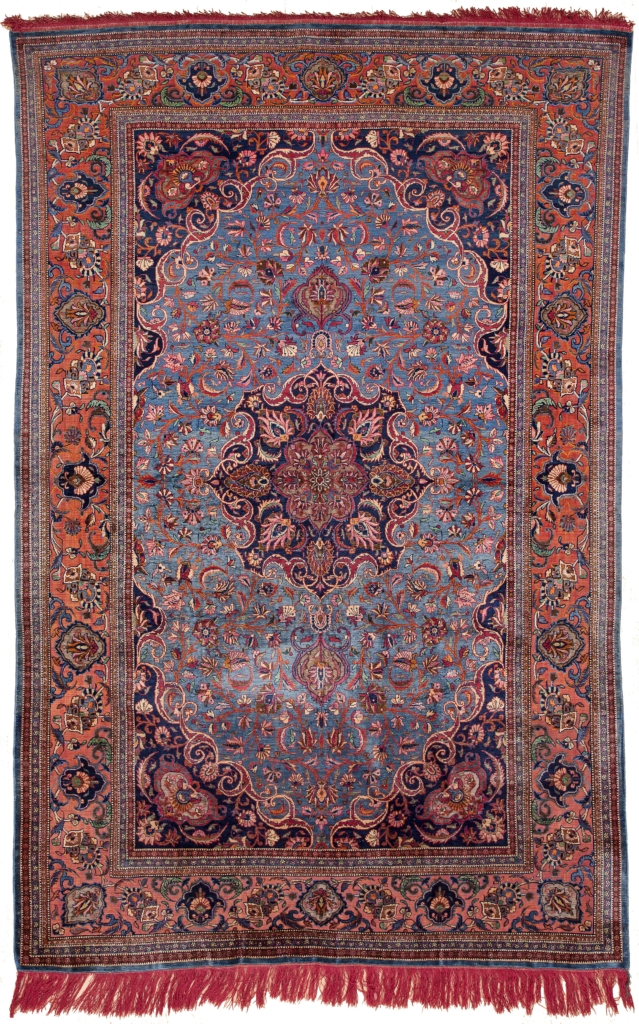 Persian Antique Kashan Rug at Essie Carpets, Mayfair London