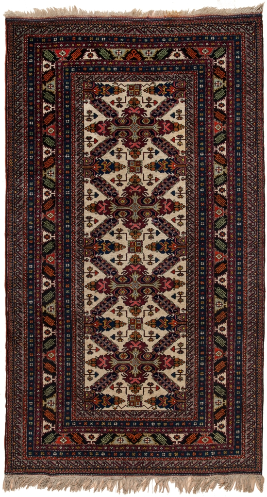 Old Russian Shirvan Rug at Essie Carpets, Mayfair London