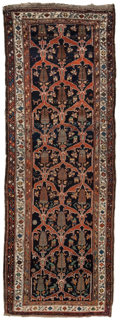 Old Persian Bakhtiari Runner  at Essie Carpets, Mayfair London