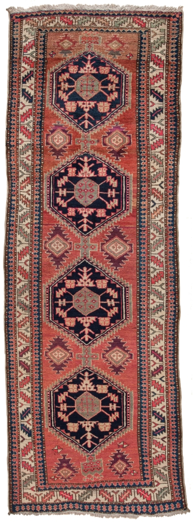Old Persian Hamadan Runner Runner at Essie Carpets, Mayfair London
