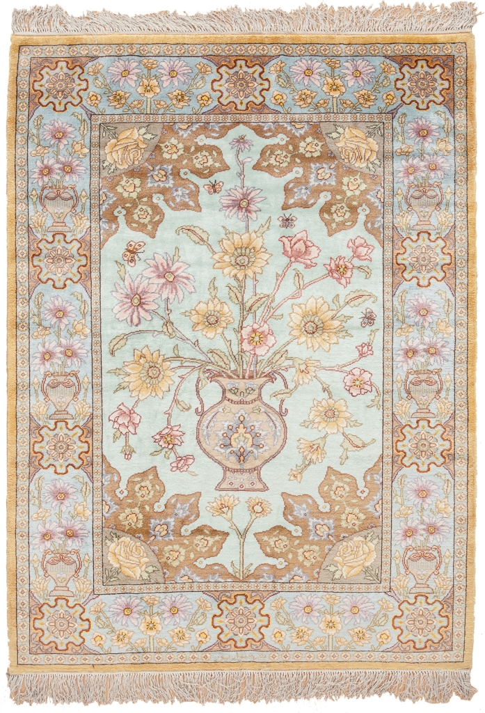 Signed Fine Persian Tabriz Rug at Essie Carpets, Mayfair London