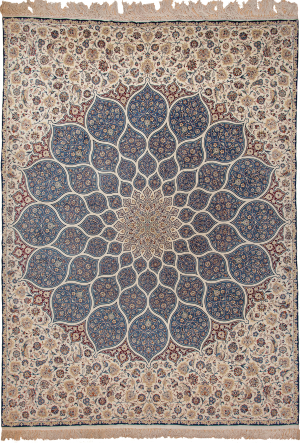 Fine Persian Esfahan Unique pair of Exquisite design Carpet at Essie Carpets, Mayfair London