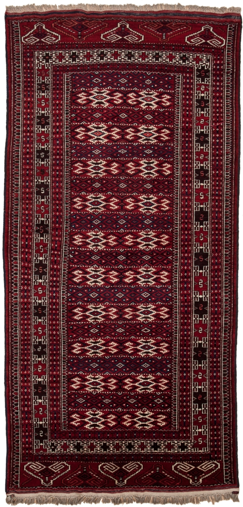 Old Russian Yamout Rug at Essie Carpets, Mayfair London