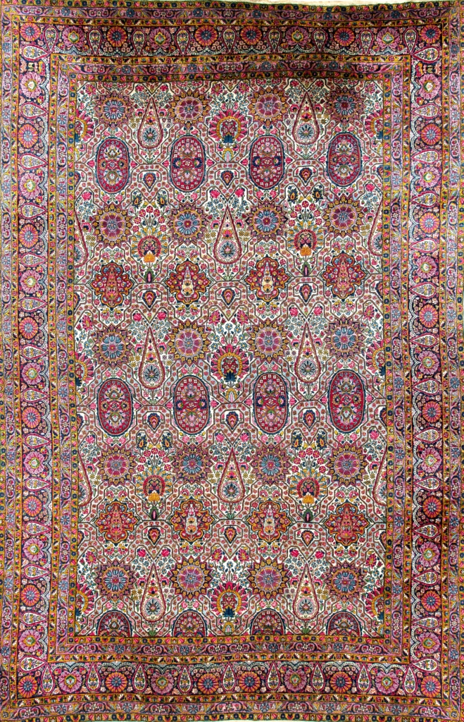 Persian Kerman Carpet at Essie Carpets, Mayfair London