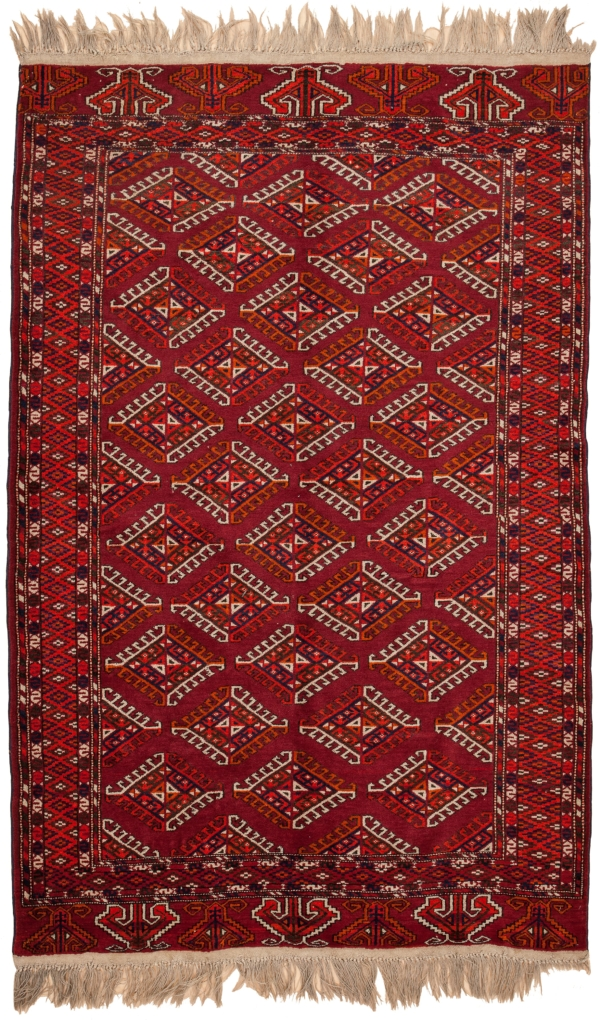 Russian Yamout Rug at Essie Carpets, Mayfair London