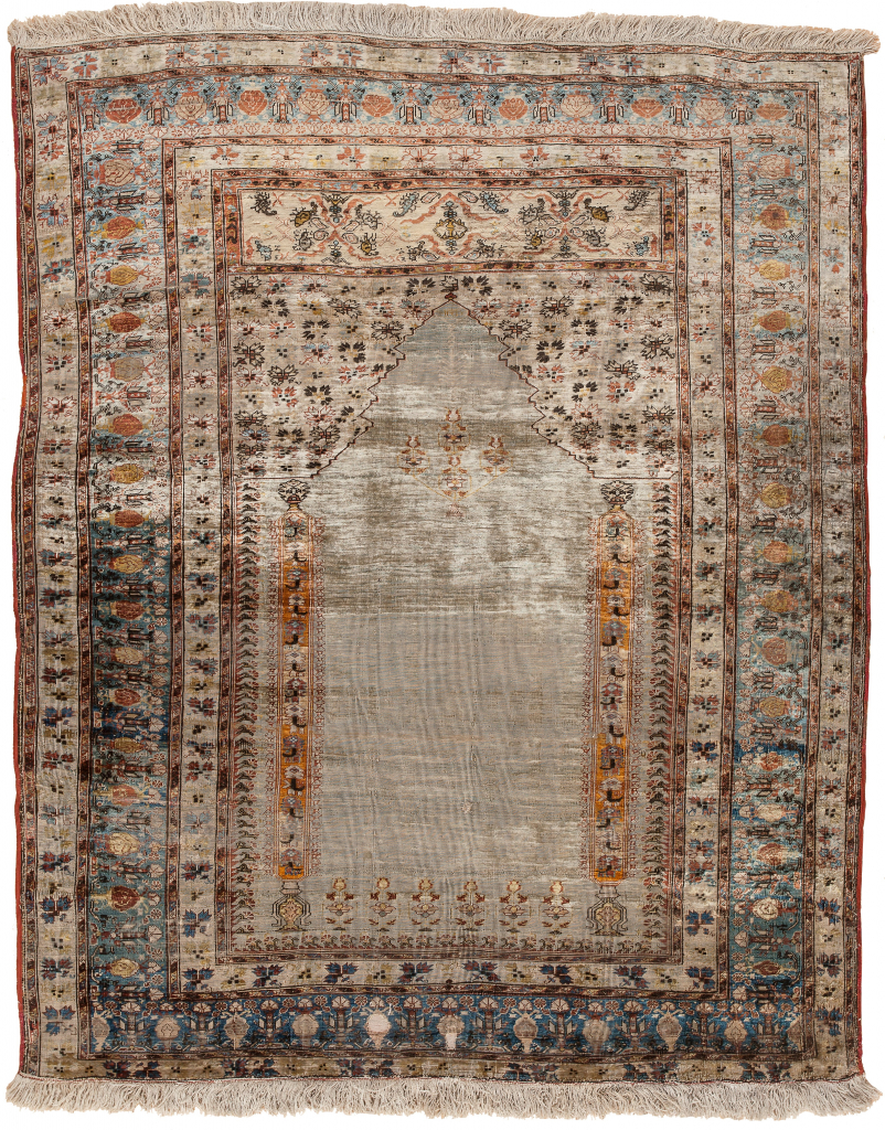 Antique Persian Tabriz Rug at Essie Carpets, Mayfair London