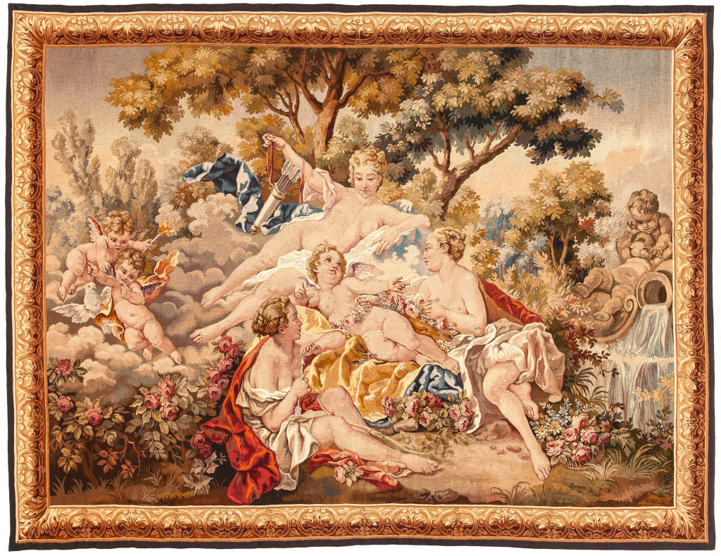 Antique Tapestry Tapestry at Essie Carpets, Mayfair London