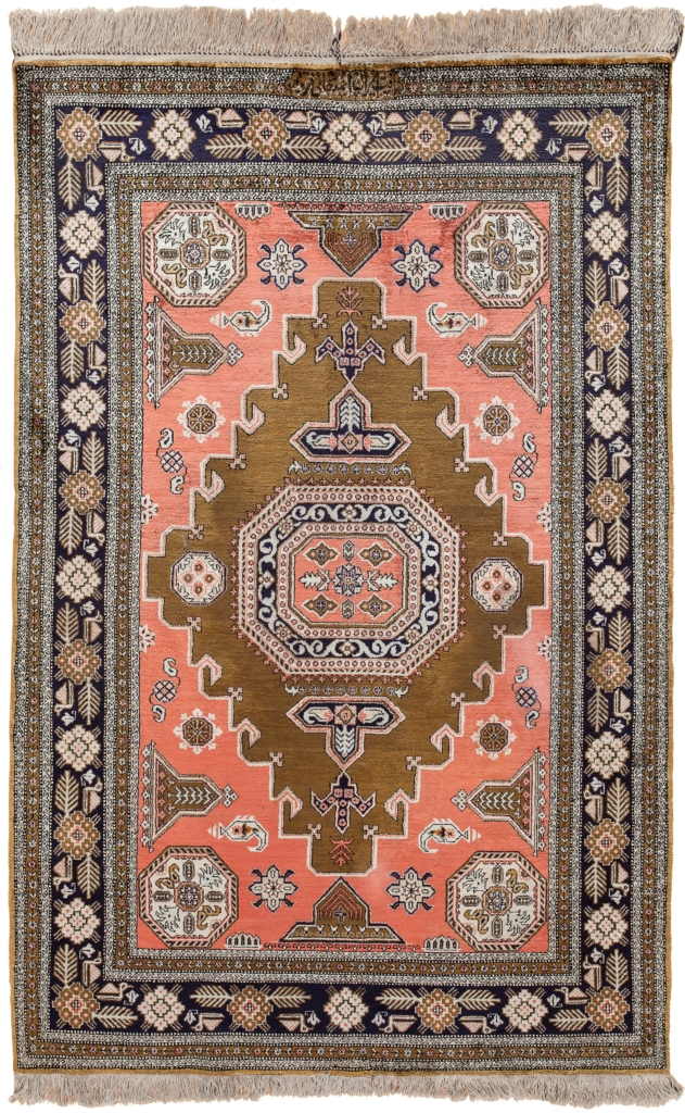 Signed Persian Qum Rug at Essie Carpets, Mayfair London