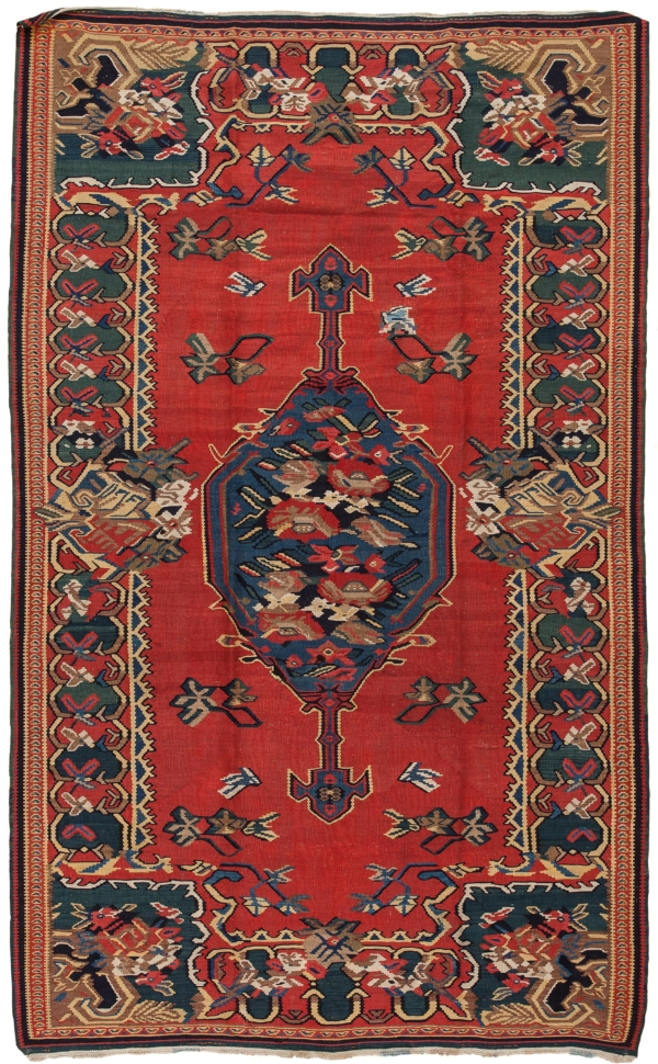 Persian Senneh SanadajGol Farangi  Kilim Kilim at Essie Carpets, Mayfair London