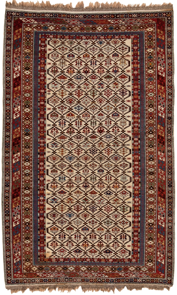 Antique Russian Dagestan Shirvan Rug at Essie Carpets, Mayfair London