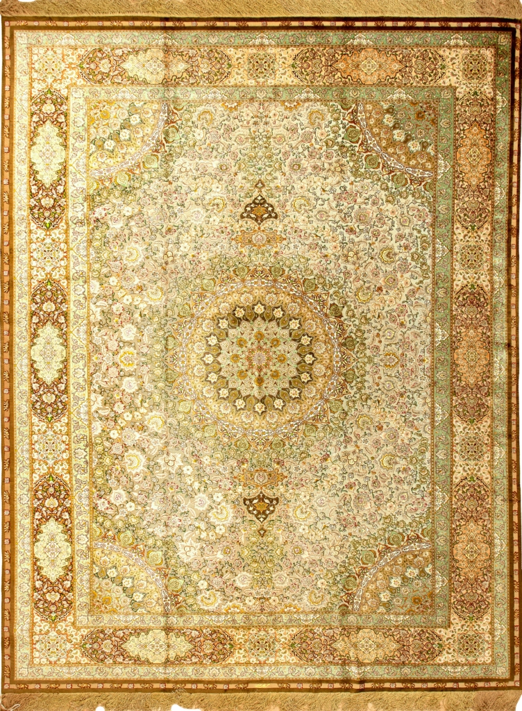 Extremely Fine, Old, Signed Persian Tabriz Carpet at Essie Carpets, Mayfair London