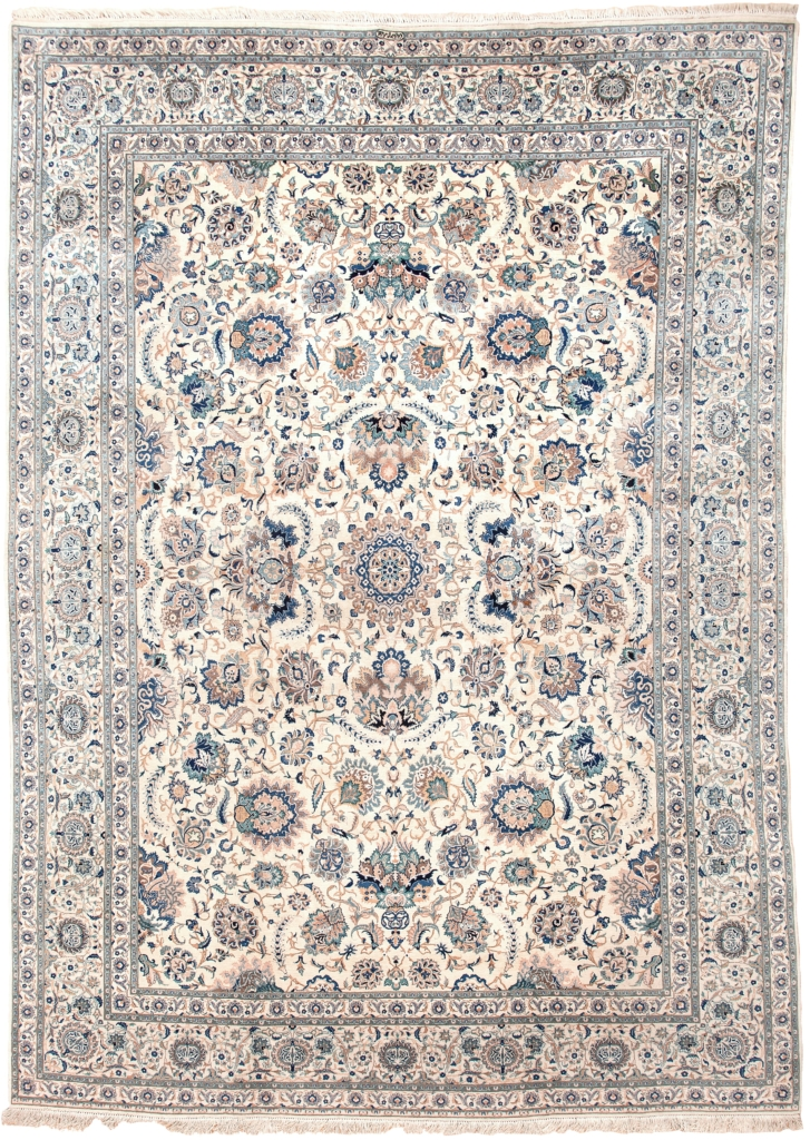 Extremely Fine Persian Kashan Carpet at Essie Carpets, Mayfair London