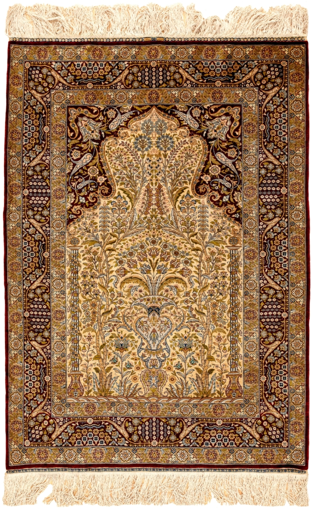 Fine Signed Turkish Hereke Rug at Essie Carpets, Mayfair London