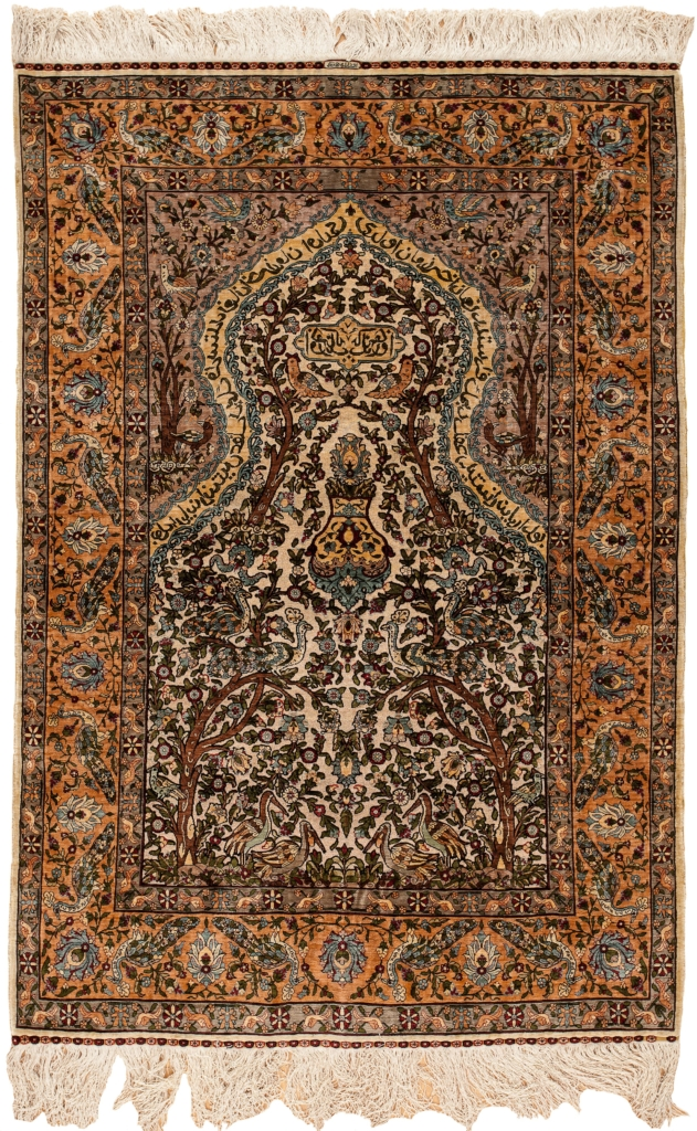 Exquisite, Very Fine, Signed Turkish Hereke Rug at Essie Carpets, Mayfair London