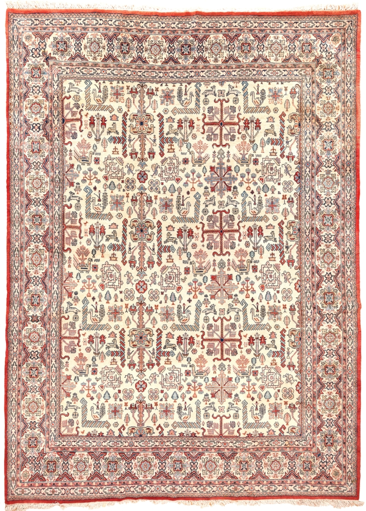 Fine Persian Qum Carpet at Essie Carpets, Mayfair London