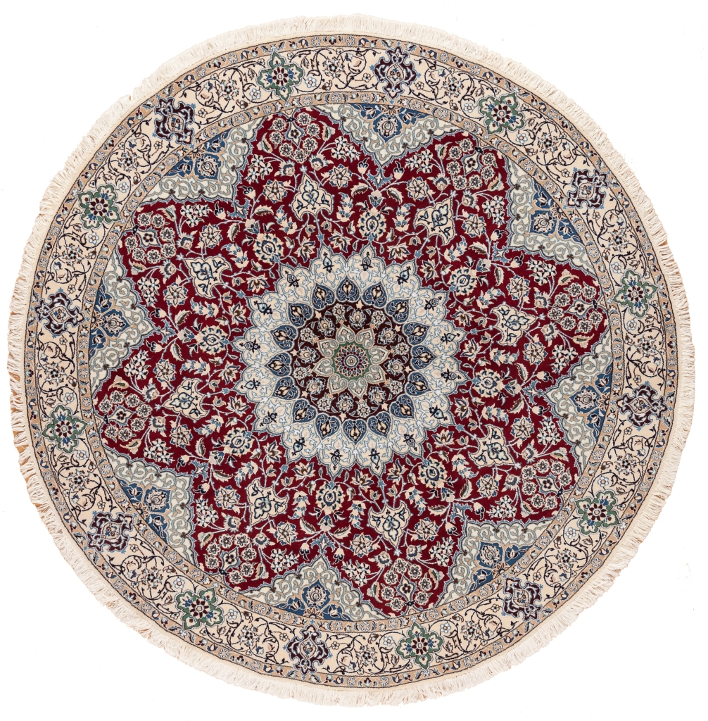 Fine Round Persian Nain Rug at Essie Carpets, Mayfair London